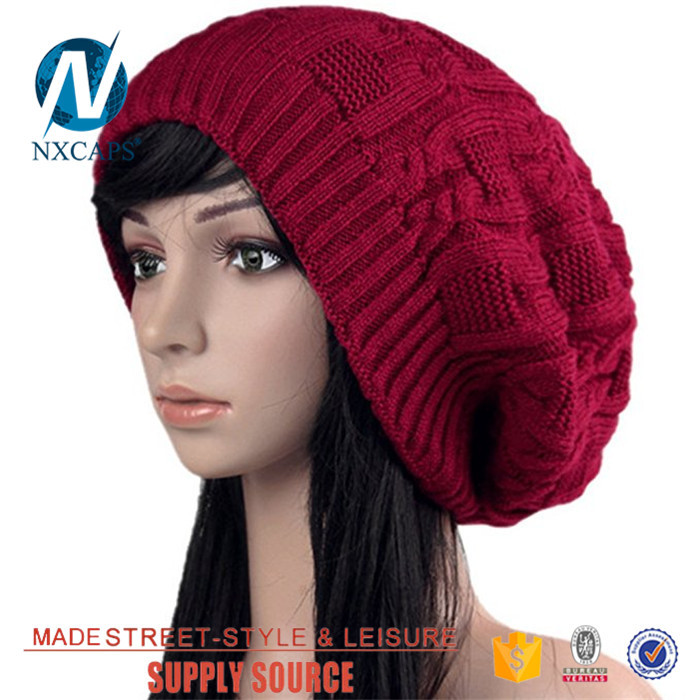 a5083df34de ... Custom leather patch black girls womens beanies hat and cap with China  factory on line shoping ...