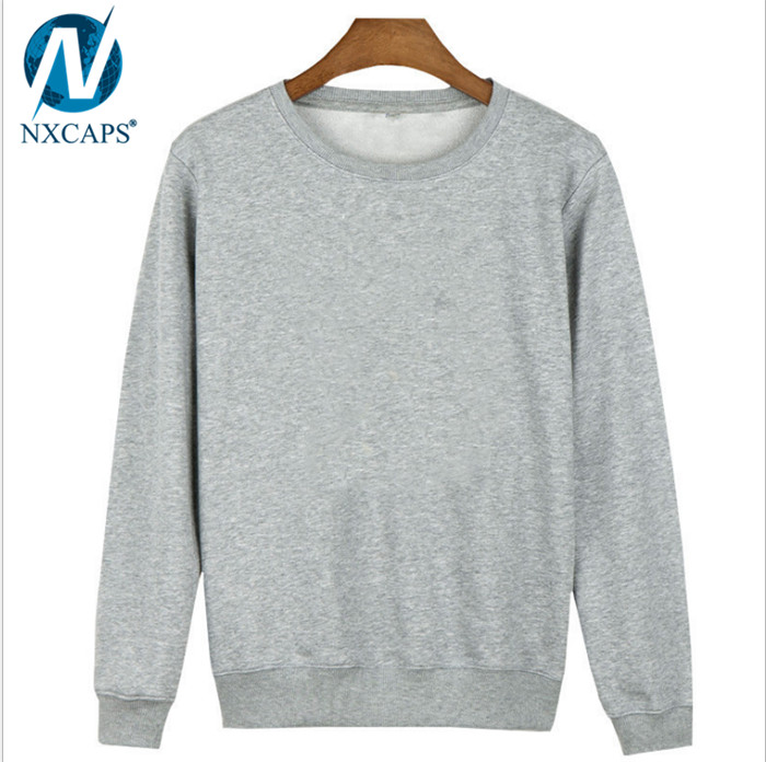 Wholesales Low MOQ Grey Gray Fleece Pullover Sweater Hoodies