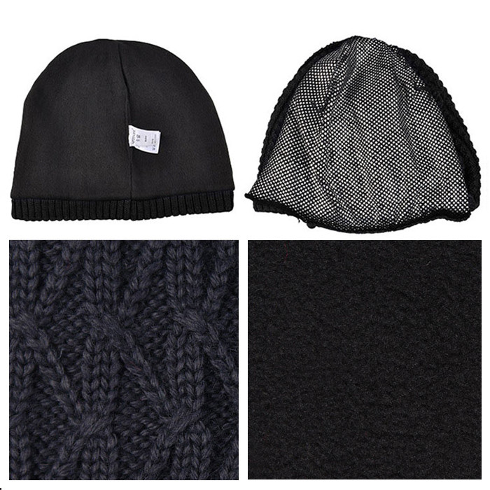 86e0e5a8cb4 Personalized jacquard men beanie hat waterproof custom patterns leather  label knit hats straight needle knitting cap ...