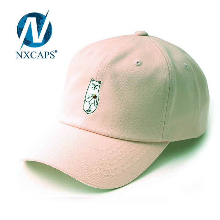 Plain dad hats blank custom 3D embroidery baseball cap men 6 lines sports caps with adjustable Metal buckle