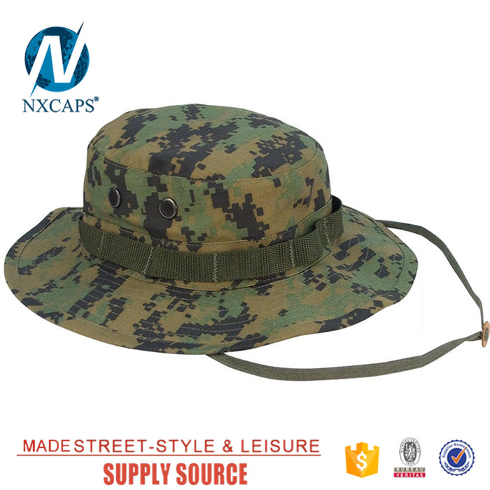 ... Custom came military boonie hat wholesale blank Travel Bucket hats  basin cap with Wide Brim Strings ... e99a0d55fff