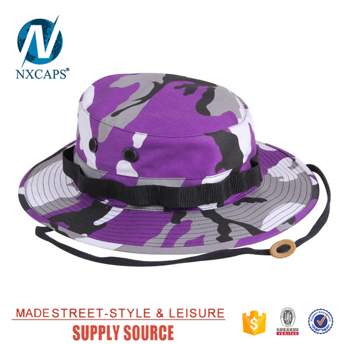 Custom printed bucket hats design your own boonie kids camo packable fisherman hat