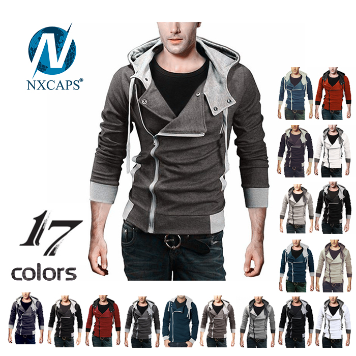 Design cropped hoodies Mens side zipper blank hoody wholesale men zip pullover hoodies stylish hoody fitted tracksuit with 17 colors