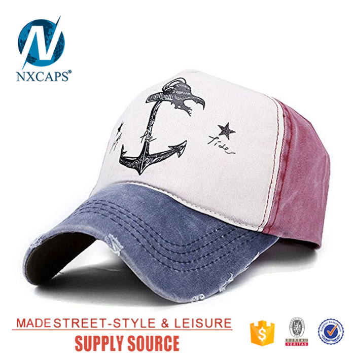 Custom Cotton Distressed Washed Worn-Out Hat 6 Panel Baseball Cap For Women