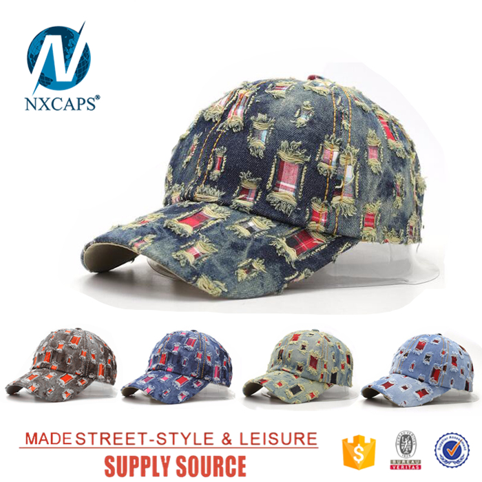 Distressed Stone washed baseball cap Oldest Multi hole abrasion Vintage fashion hip hop snapback hat