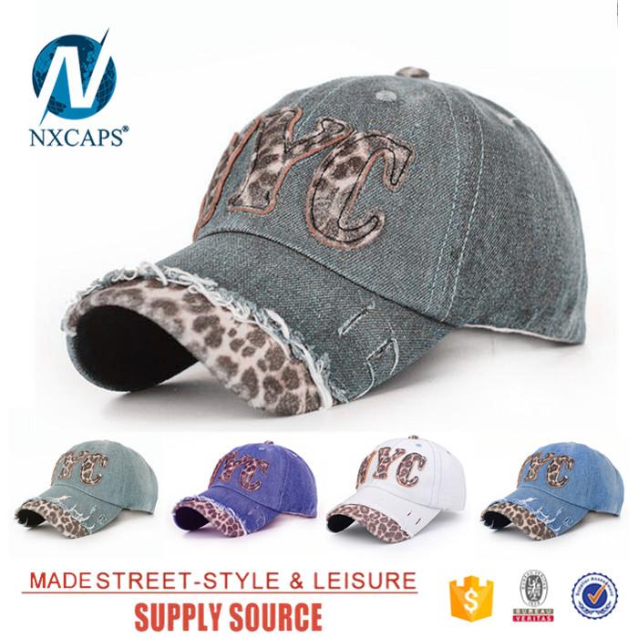 Dad hat leopard bill NYC stylish curve brim tie dye snapback caps unisex common character mens hat