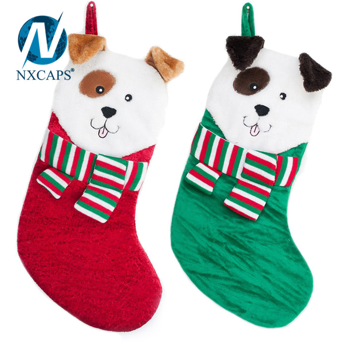 Christmas 3D dog head Personalized sock decoration Baby Kid Christmas Xmas Socks Factory
