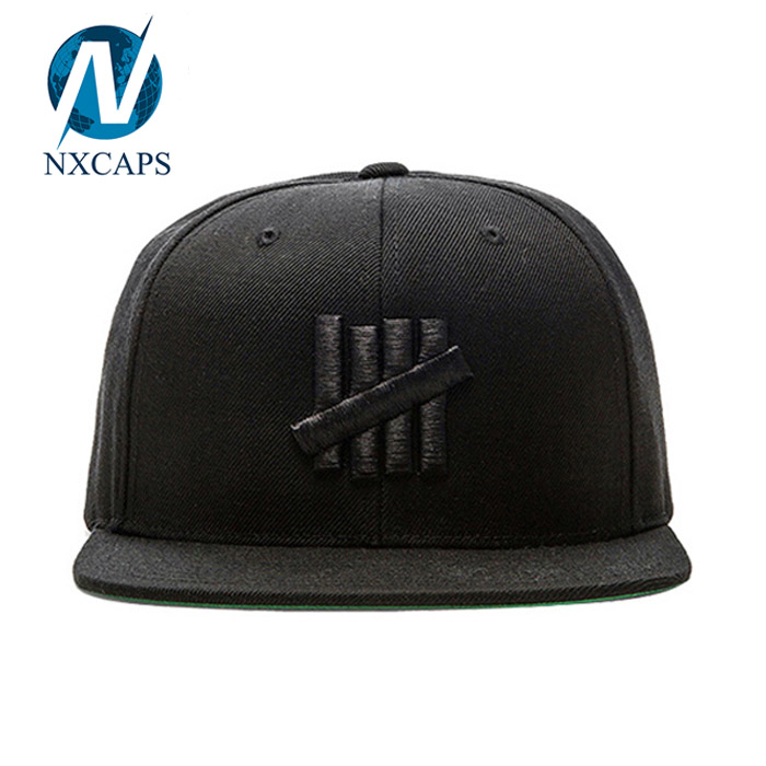 Customized Snapback Baseball Cap With 3D Embroidered Logo