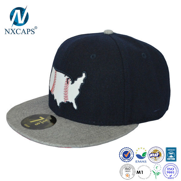 leather brim snapback cap and hat