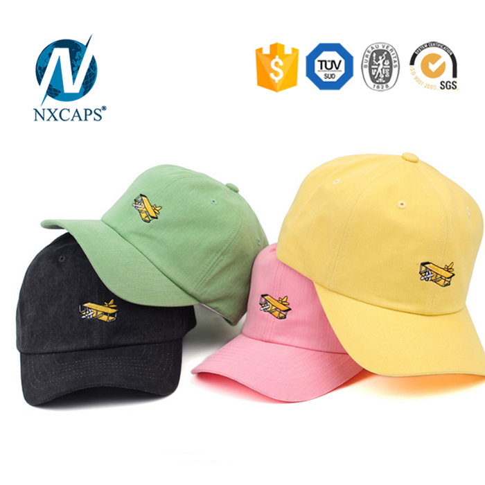 Wholesale dad hat custom colorful  baseball cap men and leisure hats Six panel sport cap wholesale six panel childrens cap