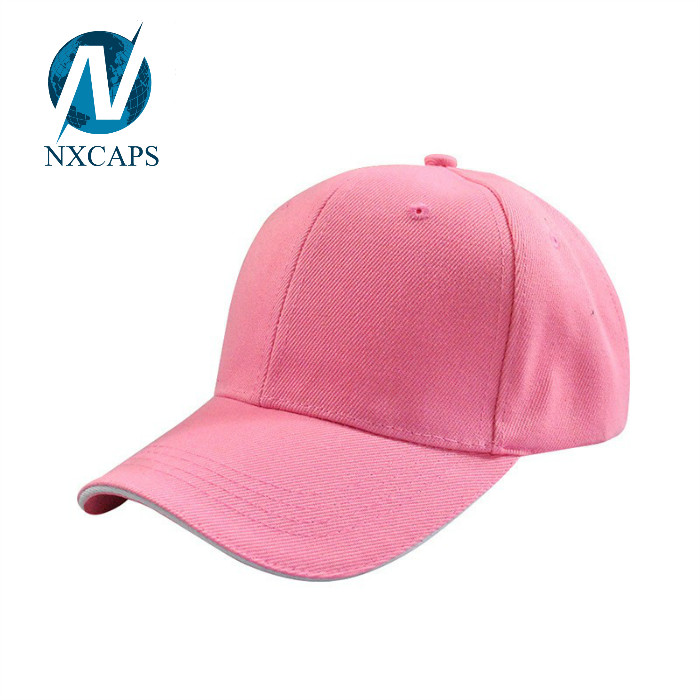 Acrylic baseball cap with Sandwich brim Design Blank Base ball Caps For Men