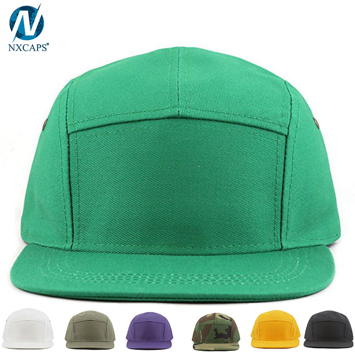 85a884399d4 ... Flat brim biker cap custom 5 panel hat blank baseball snapback hat with  leather strap ...