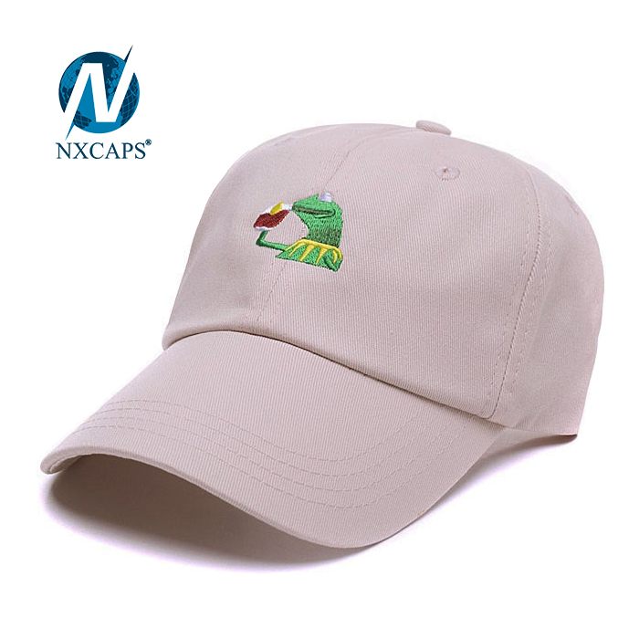 Kermit Baseball Dad Hats Customized Embroidered Logo