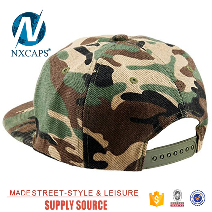 Classic camo snapback hat 6 panel baseball hip hop cap wholesale