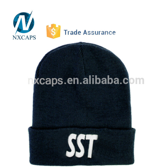 ad9a0901 ... beanie hat custom soft winter mens slouch beanie hat with top ball ...