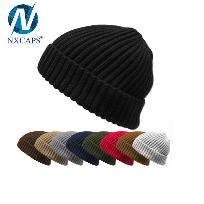9dc47f1f92d ... Classic custom fisherman beanie plain beanies men winter knitted hat  cuff beanie hats wholesale ...