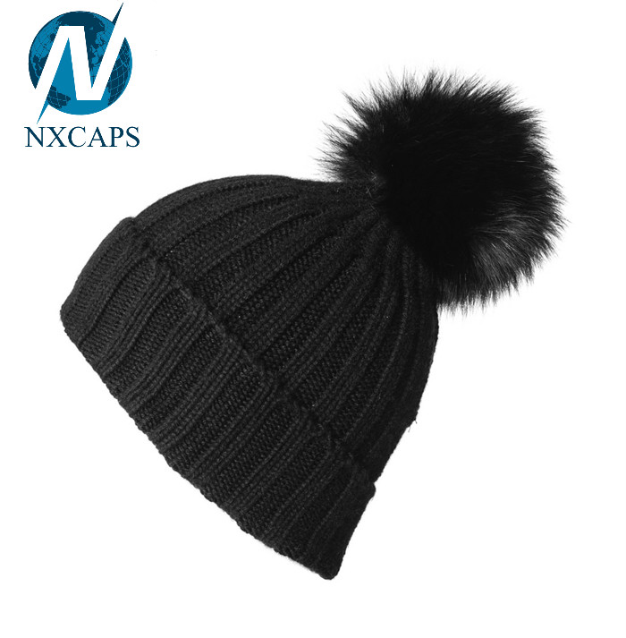 Black ball beanie wool knit top ball beanies Free slouchy beanie knitting pattern knitted long beanie hat knit beanie hat with cable pattern