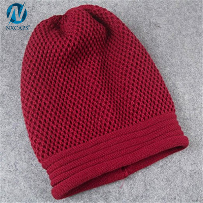 Custom slouch beanie women winter skull cap plain slouchy beanie wholesale