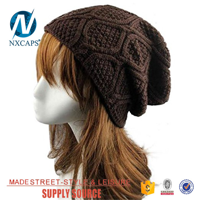 Custom Knitted Acrylic summer beanie hat Wholesale girls Beanies Hat With embroidery Logo