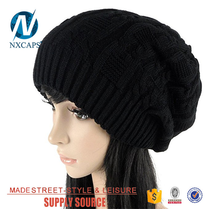 Women yellow gorro beanie hat plain soft spring sport outdoor beanies cap Manufacturer price knit hat winter With embroidery Logo