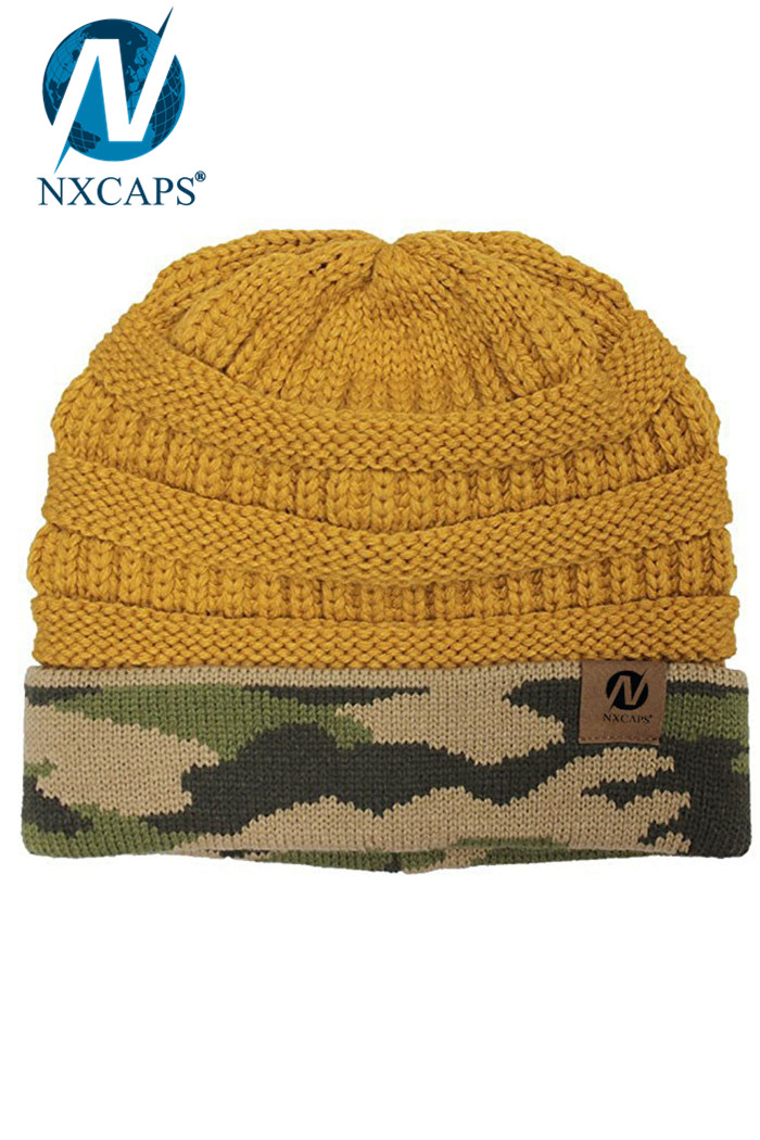Stylish camo beanie slouch adult beanies plain skull hats wholesale