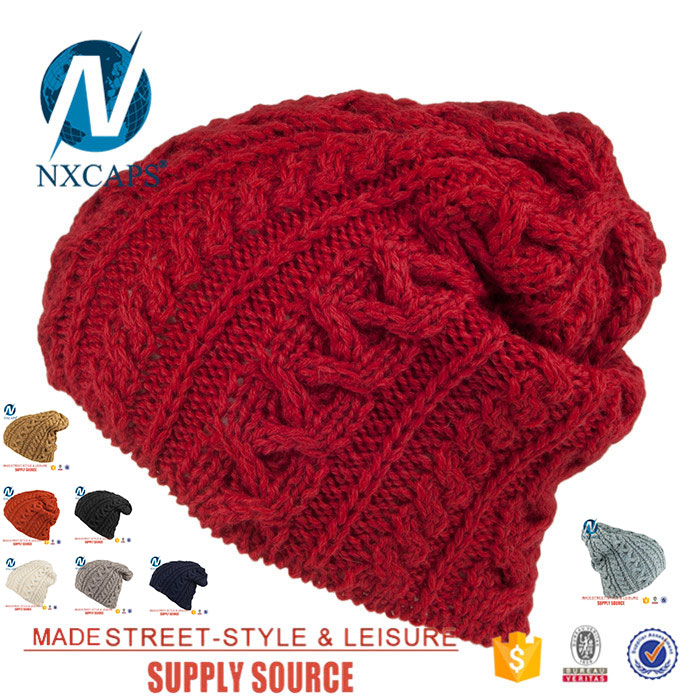 Custom cable knit beanie oversized beanie hat wool hats knitting pattern