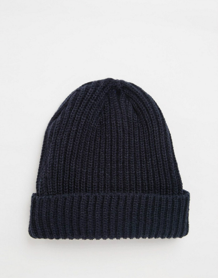13fce9179a0 Custom cable knit beanie in navy oversized fisherman beanie hat wool hats  knitting pattern ...
