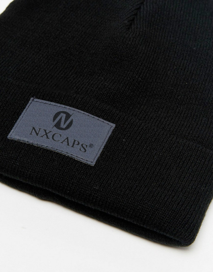 Promotional beanie with embroidery logo on front custom made high quality organic