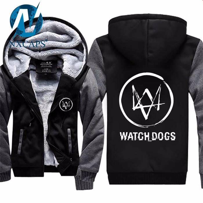 Custom design hoodie watch dogs 2 wholesale  blank warm bulk bape hoodie