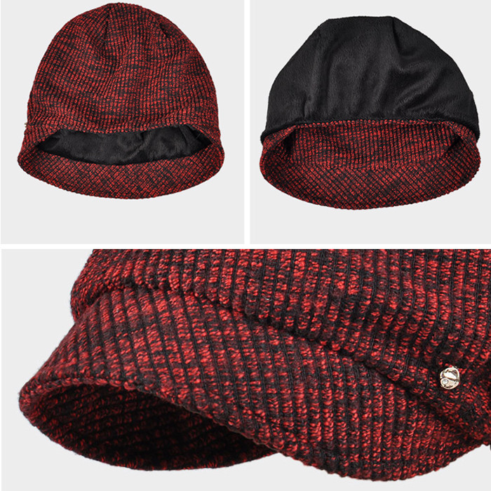 d51d1742e3f Wholesale cable knit cuff beanie hat short bill lady free knitted beanie  hat metal button baby ...