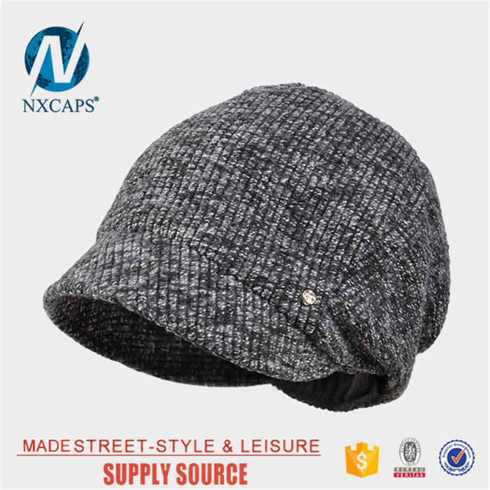 ... Wholesale knit Short brim hat Custom patterns fashion real hat beanie  winter cap Personalized knitted hat ... 6ec061c2424