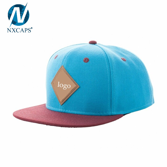 Custom Leather Patch Logo Snapback Hats Wholesale Blank Trucker Hat New  Flat Bill Snapback Cap Era 55c06c0d230