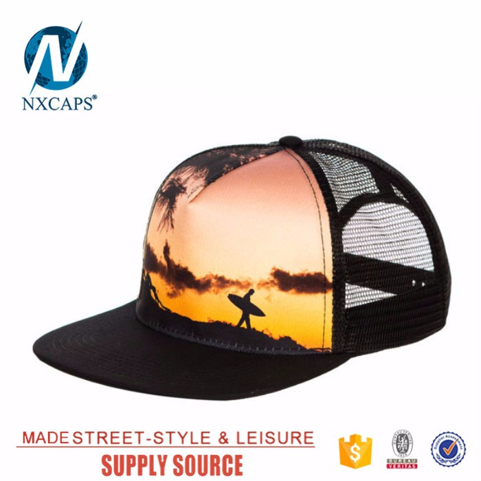 ... Custom Made Printed Mesh Snapback Caps Hats Blank Printing 5 Panel  Trucker Hats Cap ... 67e6f40187e