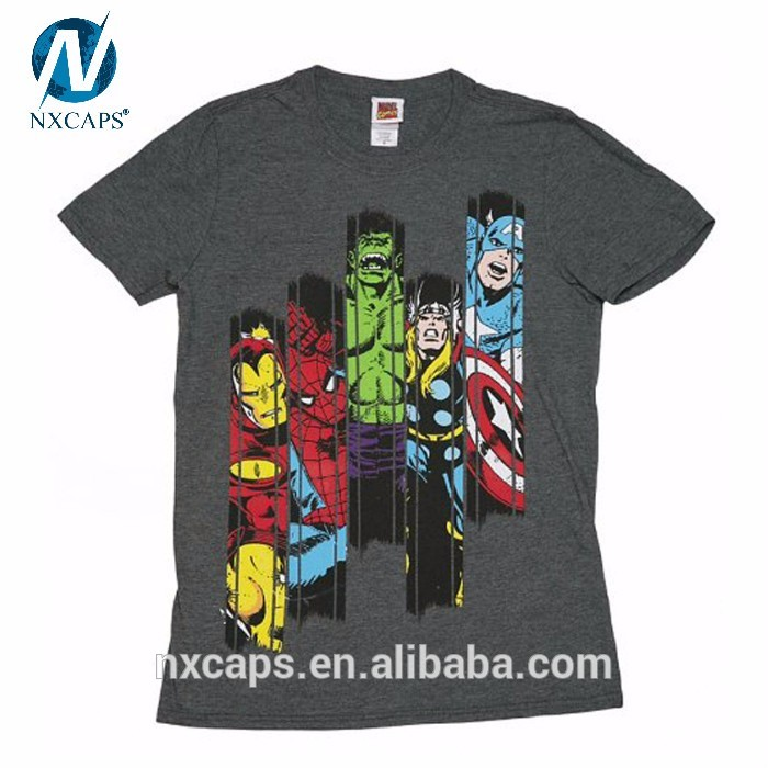 Custom T Shirt Manufacturer,Design Your Own Custom The Avengers T Shirt Printing,Blank Cotton T-shirt