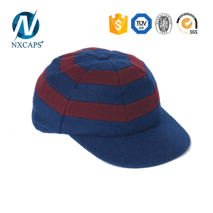 2e2e893a06f ... Striped Blank fitted cricket cap two colours Hunting Cap wholesales  custom patch baggy cricket caps ...
