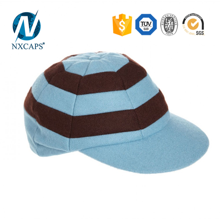 d46cff2b539 Striped Blank fitted cricket cap two colours Hunting Cap wholesales custom  patch baggy cricket caps ...