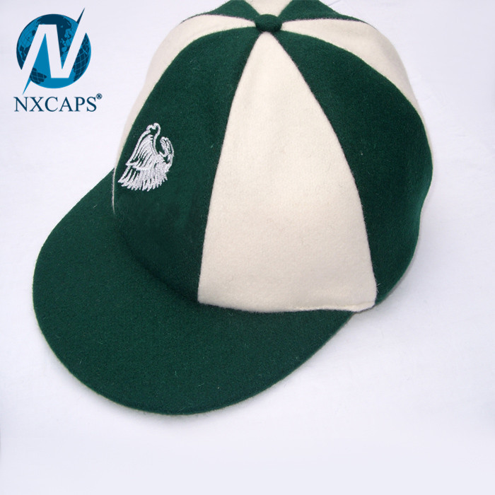2017 Wholesale design cricket cap custom flat embroidery baggy hats hit colour cricket hats two tone snapback hats