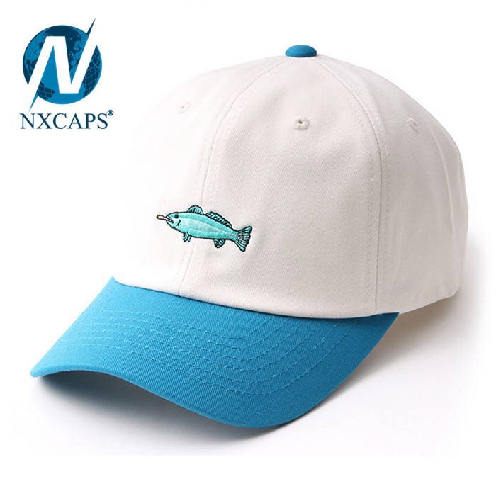 ... Personalized two tone dad hats blue and white hit colour baseball cap  kids dad hats plain ... c8932c4a4c48