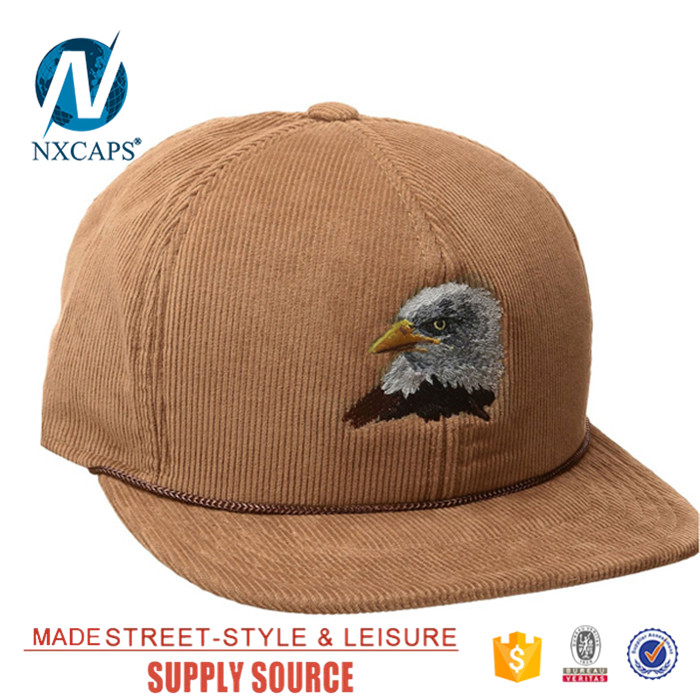 4260432665367 ... Wholesale custom embroidery snapback rope hat corduroy blank cap 6 panel  trucker hat Twill sports caps ...