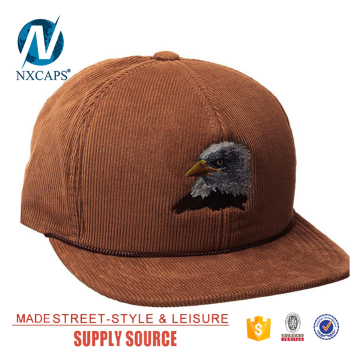 a534aa7fe4e ... Wholesale custom embroidery snapback rope hat corduroy blank cap 6 panel  trucker hat Twill sports caps ...