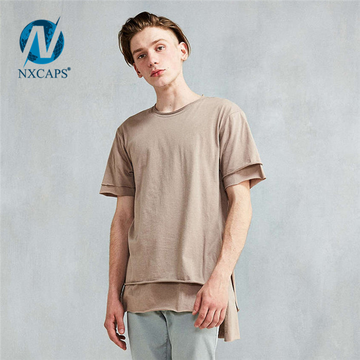 Custom print men long line t shirt Personalized dry fit 100 cotton men's leisure suits drop tail hoodieCustom print men long line t shirt Personalized dry fit 100 cotton men's leisure suits drop tail