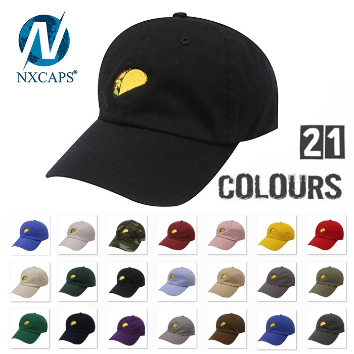 Custom 6 panel plain dad hat adjust soft blank baseball cap blank cycling dad hats craze Roll Brim Hat