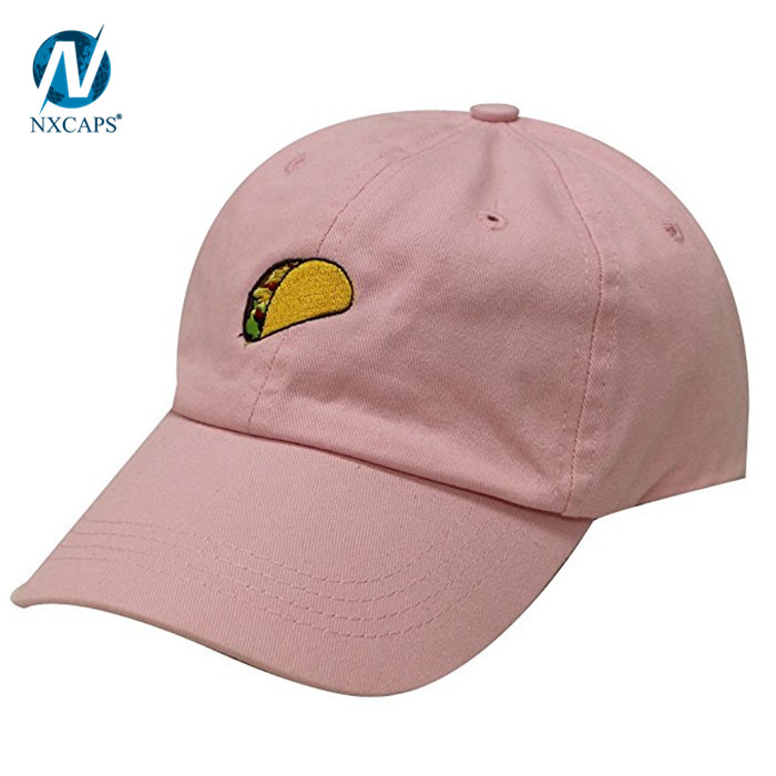 f0fe20bf5 Dad hats Khaki hot dog embroidery Logo Front Wholesale camper Cap ...