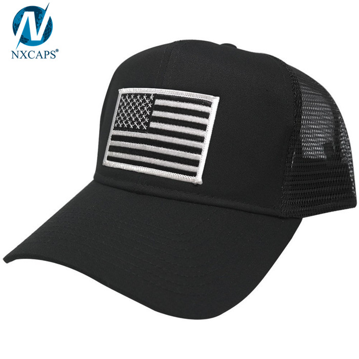 465b6285c6bc4 Plain trucker hats embroidery patch trucker cap curve brim 6 panel hat mesh  sun visor cap