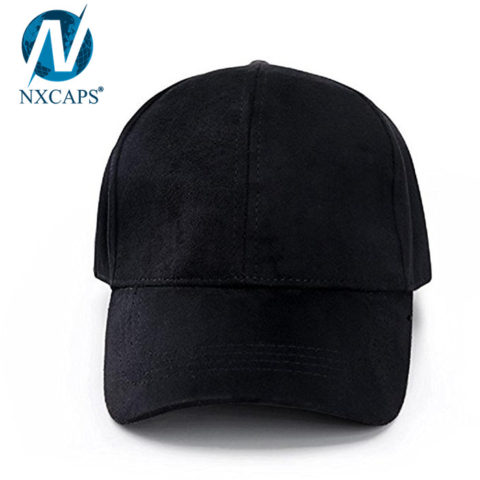 6c8019747cf3c ... Fashion black suede dad hat blank baseball cap custom logo man hat  different types of hats ...