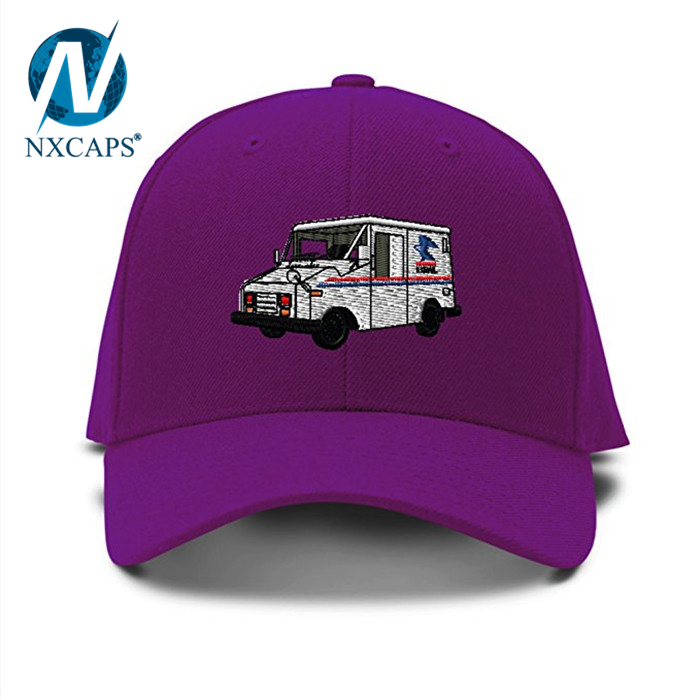 6f28af8cc78 ... Mail Truck Mailman Embroidery cap custom 3D Embroidered pattern dad hats  unisex metal strap adjustable Baseball ...