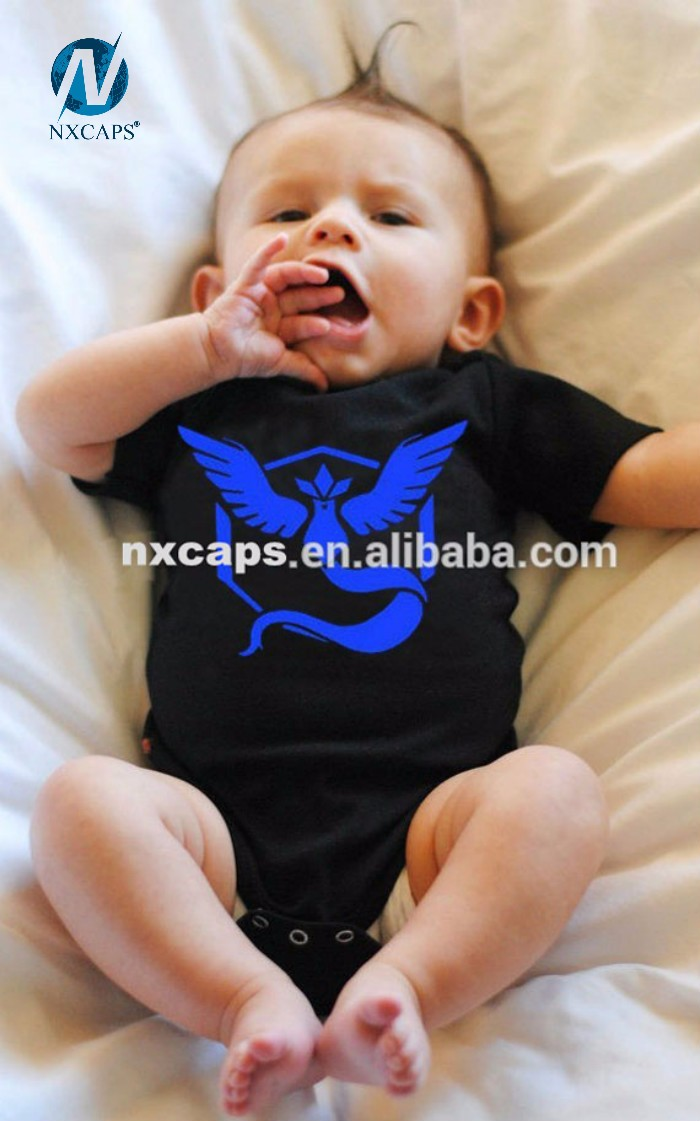 Baby Pokemon Go Tshirt Clothes Printed Jumpsuit xhz 0-2 Year Old