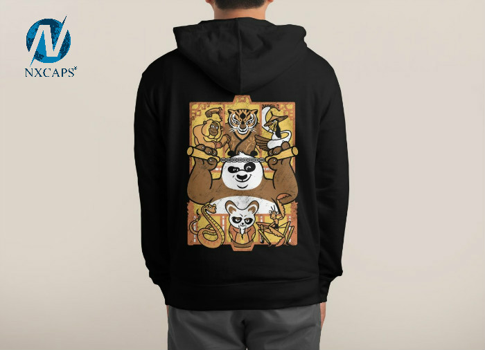 Kungfu Panda Version Fashion Hoodie For Couple Fashion Couple Pullover Jacket Hoodie Crewneck Woman Cropped Sweatshirts