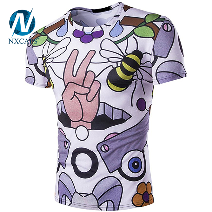 Mens Unisex Hipster 3D Digital Fashion Graphic Printing T Shirts digital printing t-shirt