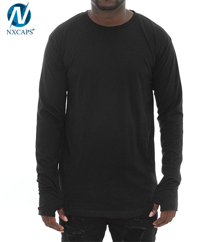 discover latest trends new product stable quality thumb hole t shirt,oversized t shirt